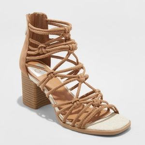 DV Taupe Adira Knotted Heeled Pumps
